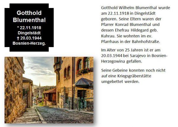 Blumenthal, Gotthold