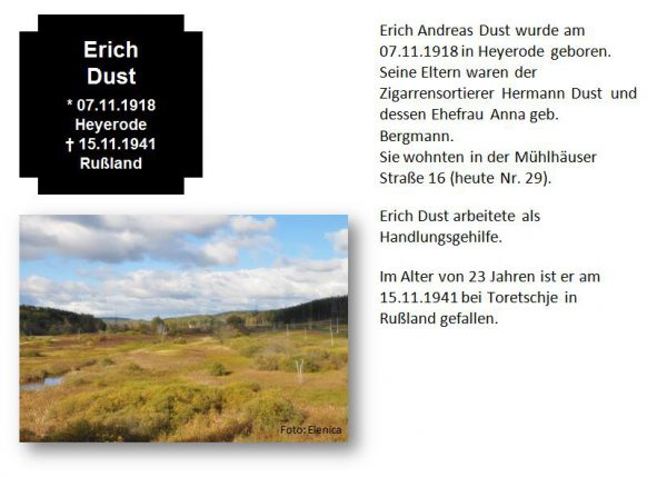 Dust, Erich