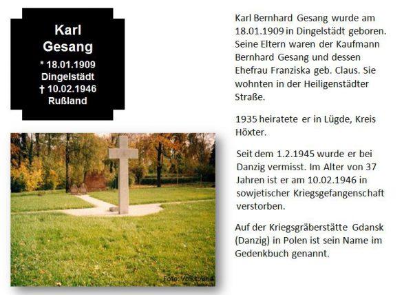 Gesang, Karl