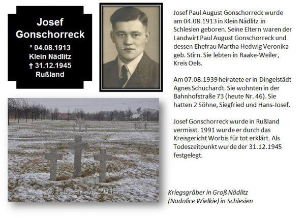 Gonschoreck, Josef