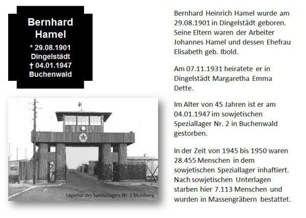 Hamel, Bernhard