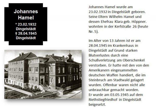 Hamel, Johannes