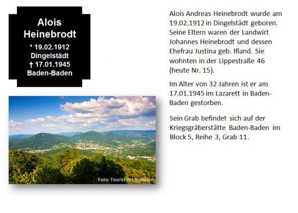 Heinebrodt, Alois