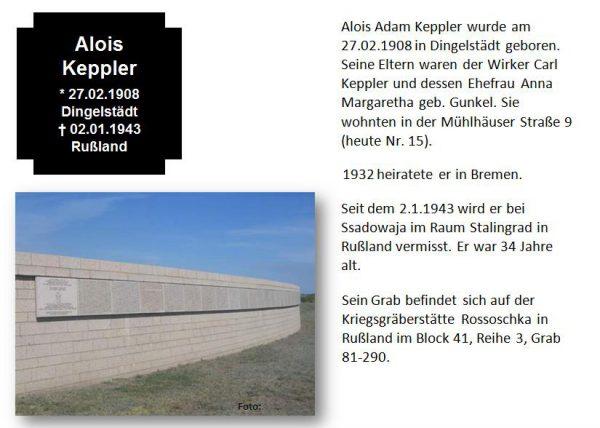 Keppler, Alois