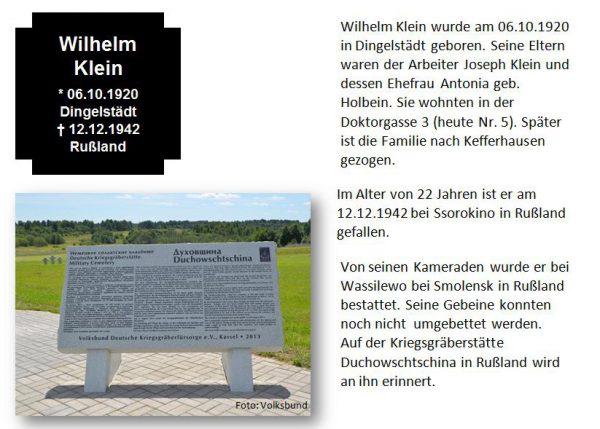 Klein, Wilhelm