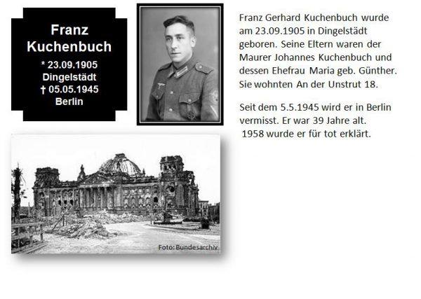 Kuchenbuch, Franz