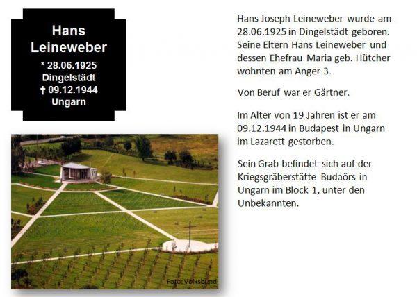 Leineweber, Hans