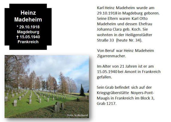 Madeheim, Heinz
