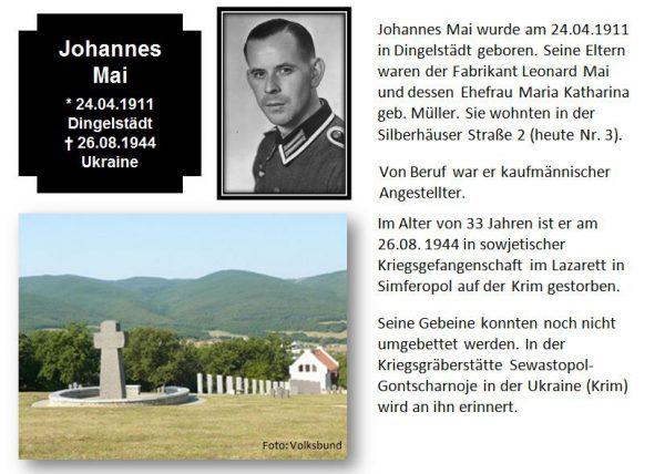 Mai, Johannes
