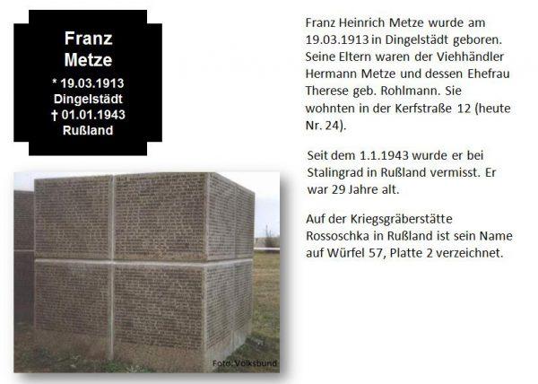 Metze, Franz