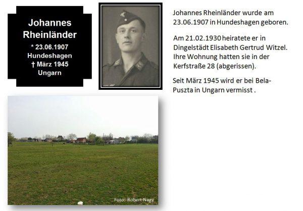 Rheinländer, Johannes