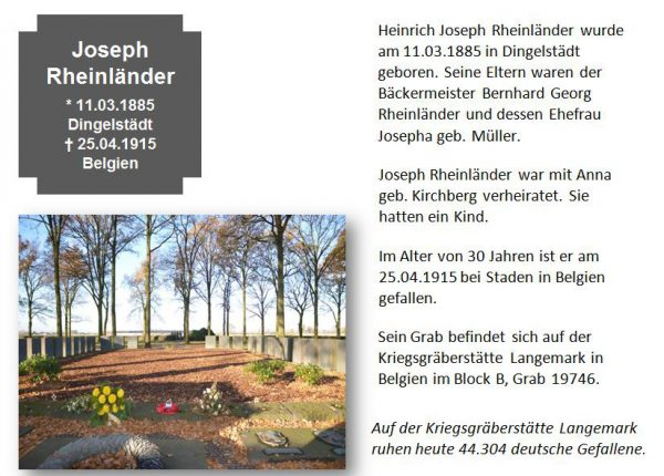 Rheinländer, Joseph
