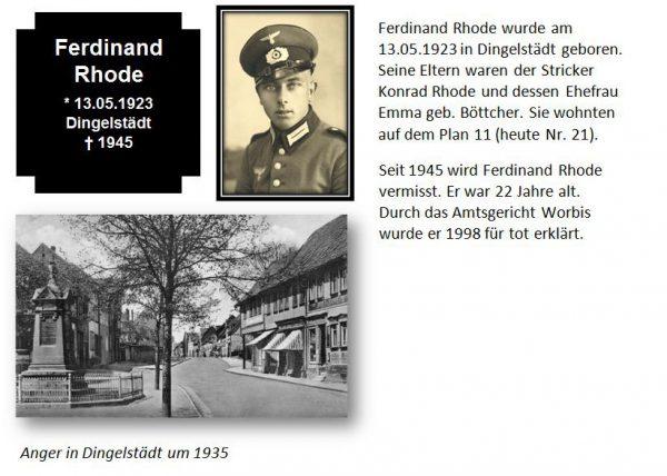 Rhode, Ferdinand