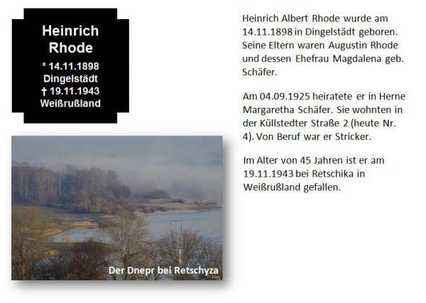 Rhode, Heinrich