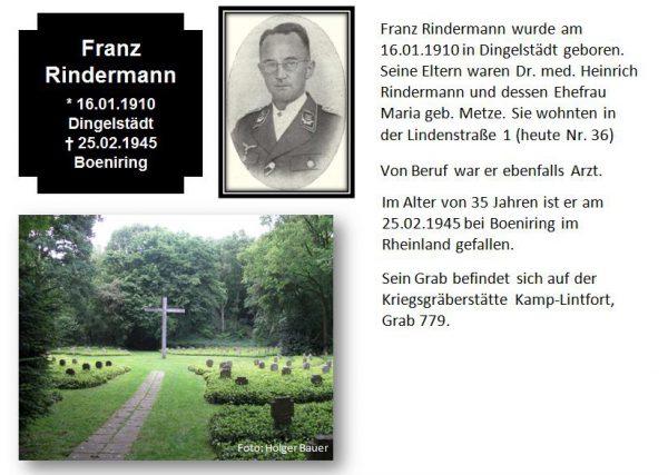 Rindermann, Franz