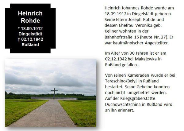 Rohde, Heinrich
