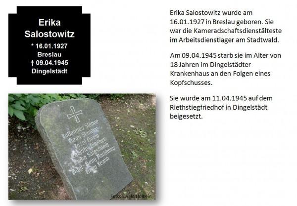 Salostowitz, Erika