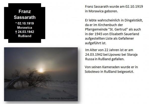 Sassarath, Franz