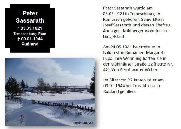 Sassarath, Peter