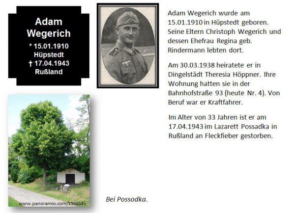 Wegerich, Adam