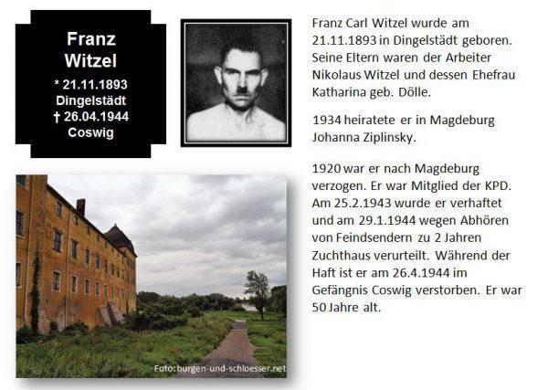 Witzel, Franz